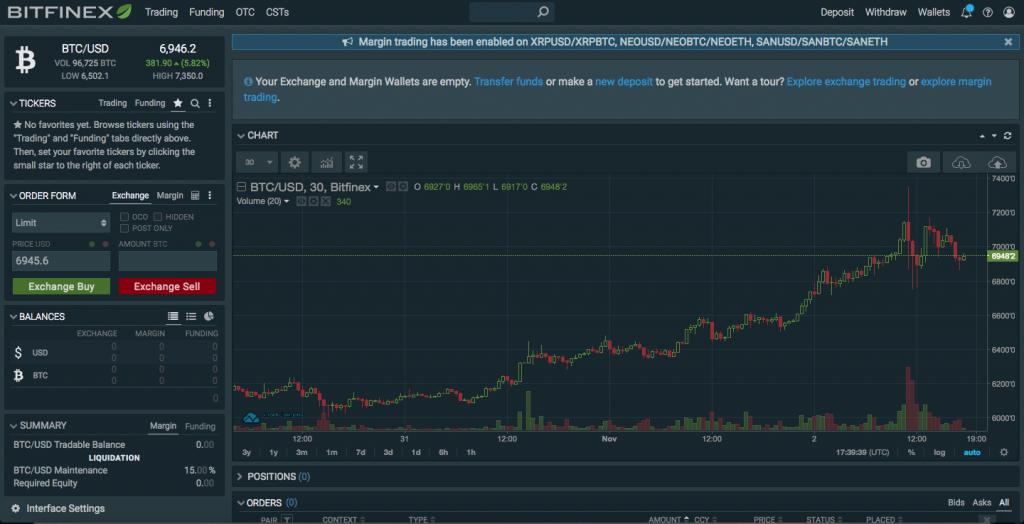 étape 3 du Bitfinex