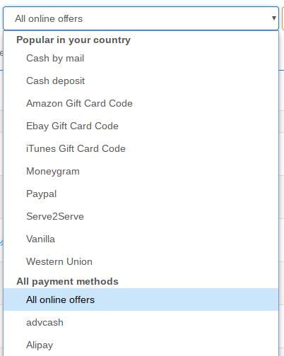 LocalBitcoins-méthode de payment_