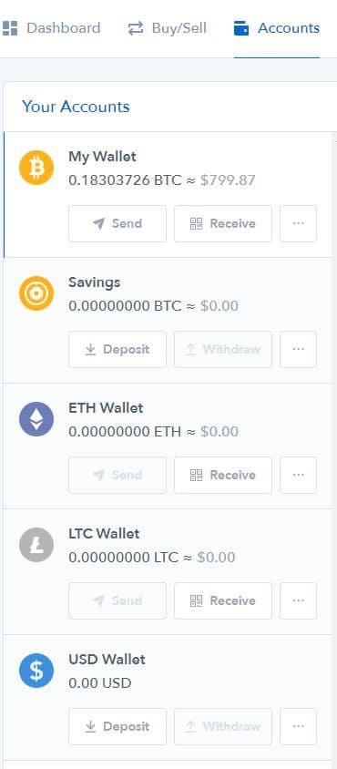 comptes bitcoin coinbase
