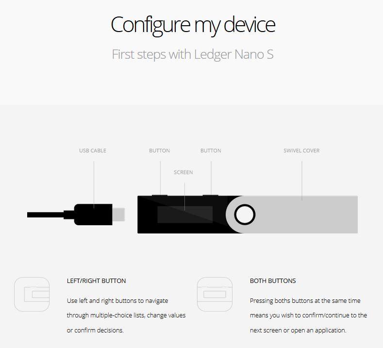 configurer le ledger nano s