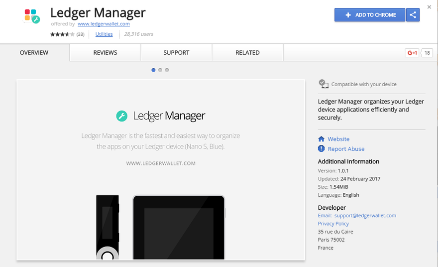 ledger wallet chrome extension