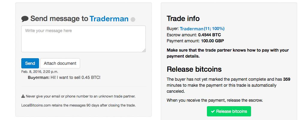 Comment convertir ses bitcoin en Euro : Terminer la transaction