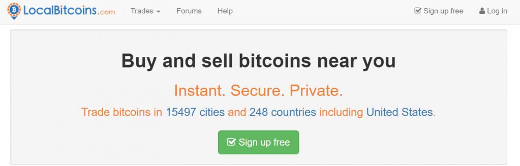 Transformez votre Bitcoin en argent comptant physique avec LocalBitcoins.com.